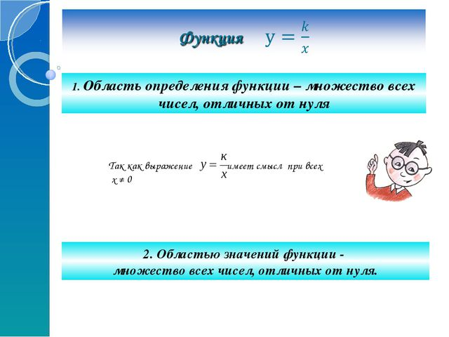 1. Область определения функции – множество всех чисел, отличных от нуля 2. О...