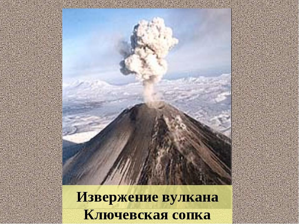 Извержение вулкана Ключевская сопка