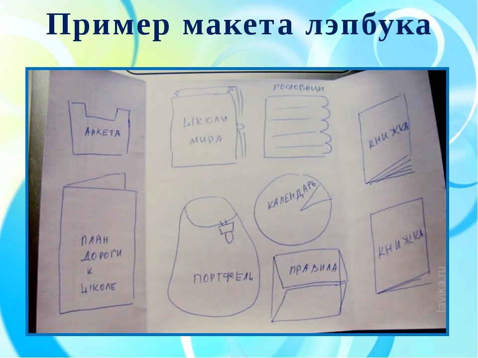 Пример макета лэпбука
