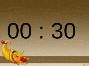 00 : 30