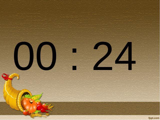 00 : 24
