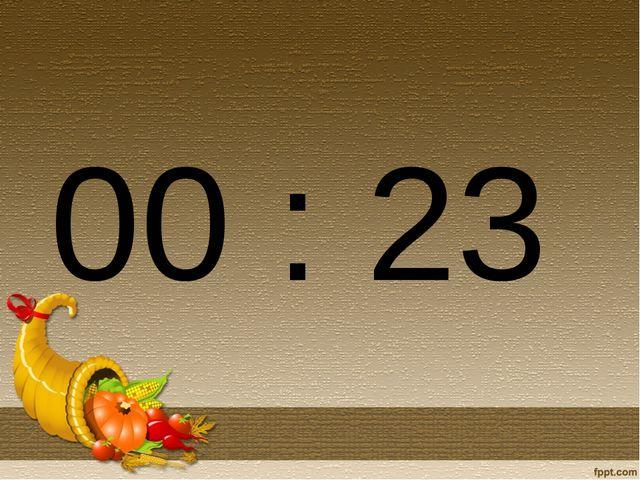 00 : 23