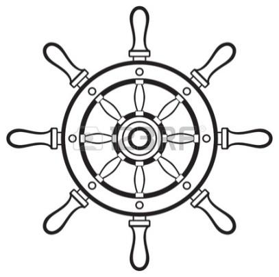 Силуэт рулем на белом фоне Фото со стока - 20543969