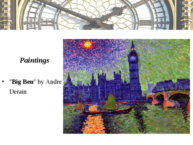 """Paintings """"Big Ben"""" by Andre Derain"""