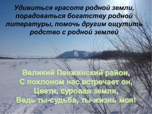 Удивиться красоте родной земли, порадоваться богатству родной литературы, пом