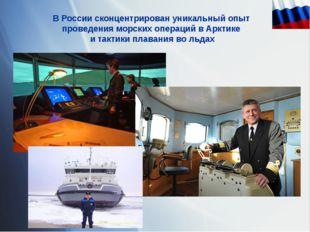 В России сконцентрирован уникальный опыт проведения морских операций в Арктик