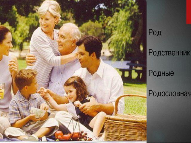 Род Родственники Родные Родословная