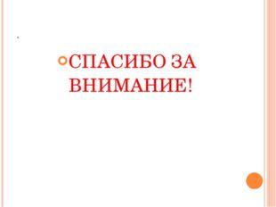 . СПАСИБО ЗА ВНИМАНИЕ!