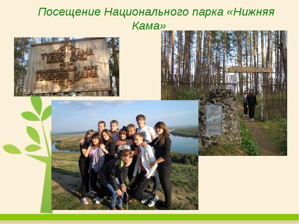 Посещение Национального парка «Нижняя Кама»