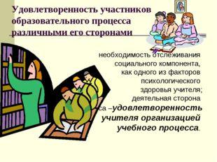 Удовлетворенность участников образовательного процесса различными его сторона