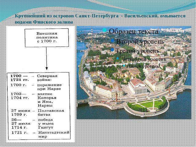 Крупнейший из островов Санкт-Петербурга - Васильевский, омывается водами Финс...