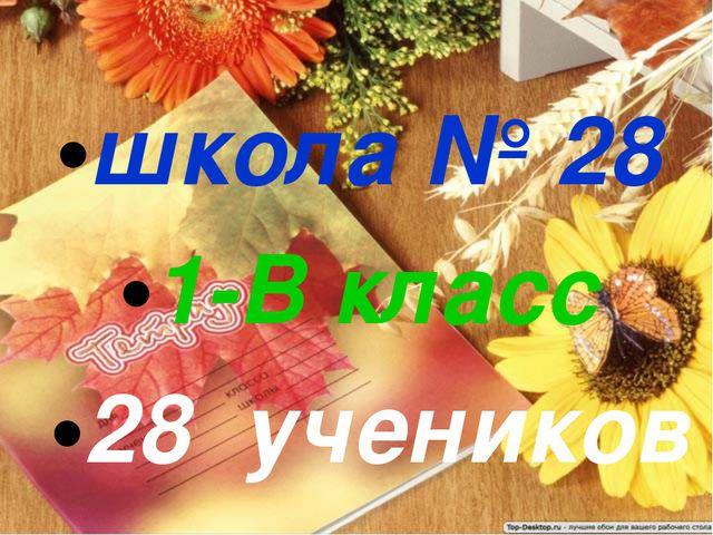 школа № 28 1-В класс 28 учеников