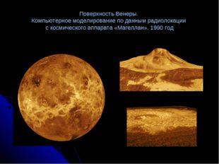 Поверхность Венеры. Компьютерное моделирование по данным радиолокации с косми
