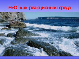 H2O как реакционная среда H2O как реакционная среда
