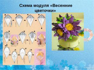 Схема модуля «Весенние цветочки»