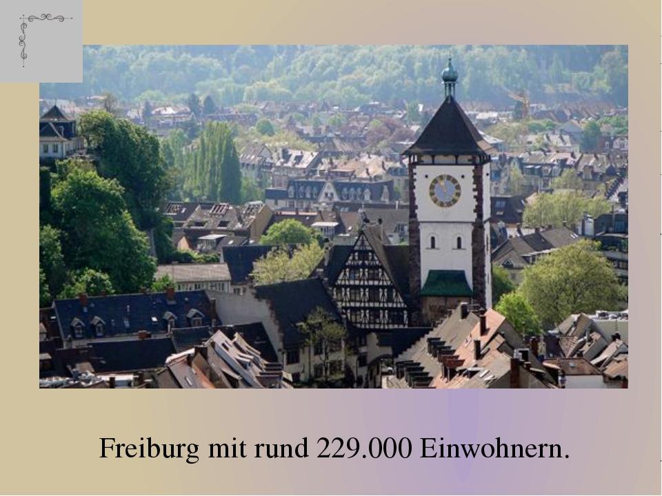 Freiburg mit rund 229.000 Einwohnern.