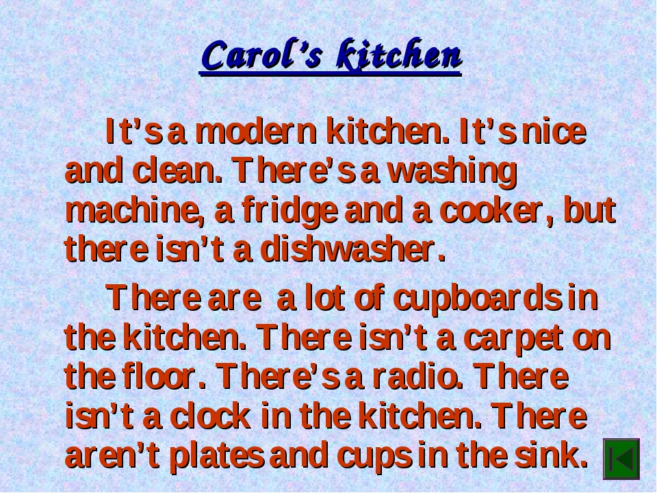 Carol's kitchen It's a modern kitchen. It's nice and clean. There's a washi...