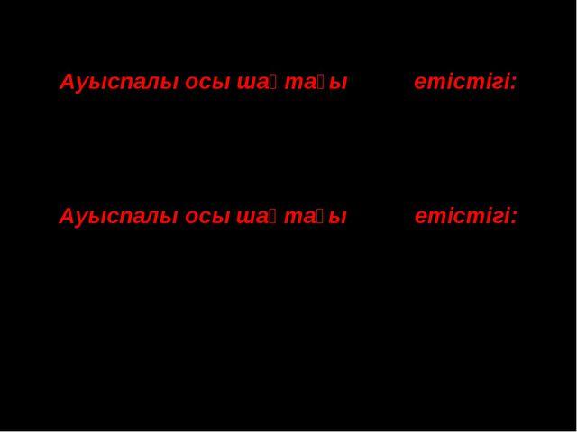 Ауыспалы осы шақтағы to be етістігі: Жекеше →Көпше I am →We are You are →Y...