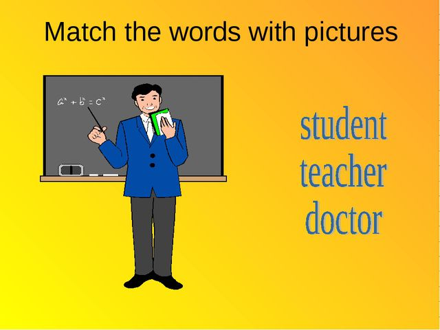 Match the words with pictures