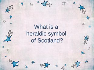 What is a heraldic symbol of Scotland?