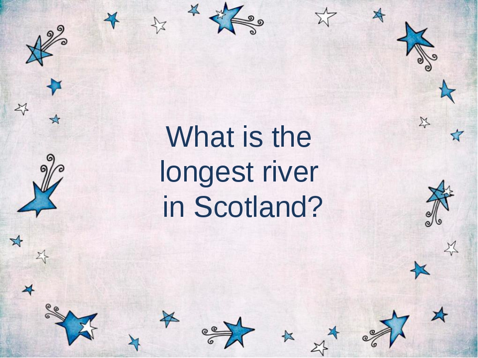 What is the longest river in Scotland?