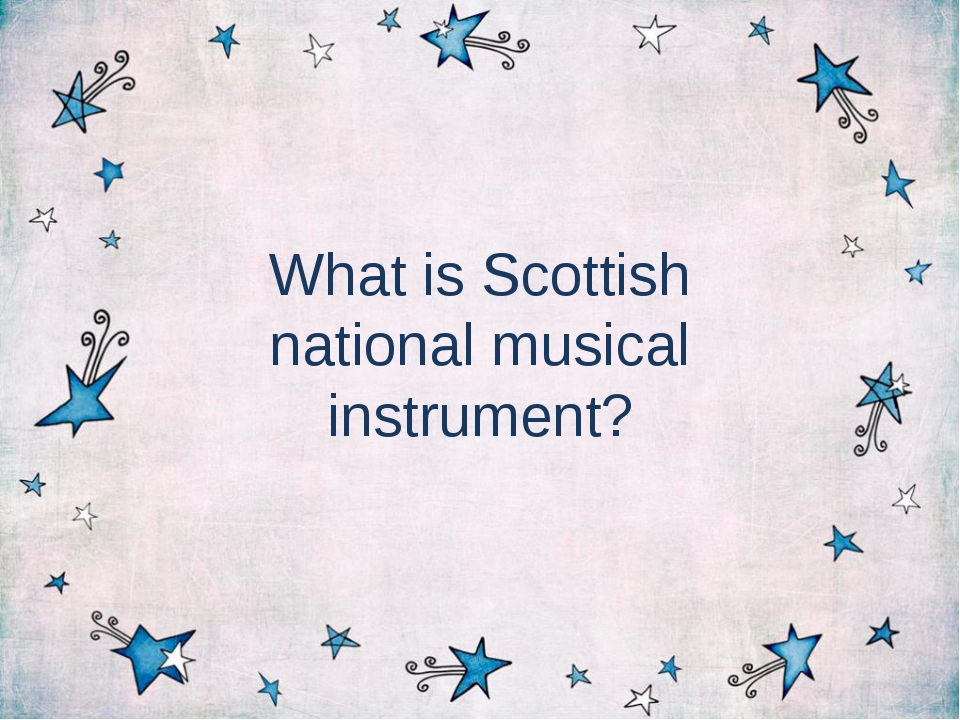 What is Scottish national musical instrument?