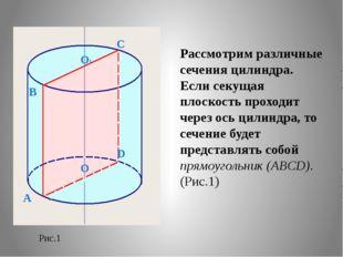 Рассмотрим различные сечения цилиндра. Если секущая плоскость проходит через