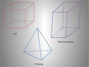 Куб Параллелепипед Тетраэдр