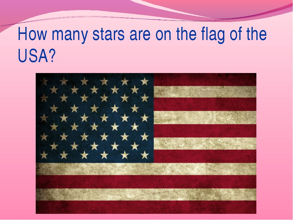 How many stars are on the flag of the USA?