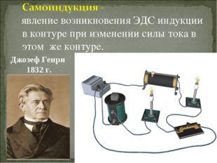 явление возникновения ЭДС индукции в контуре при изменении силы тока в этом