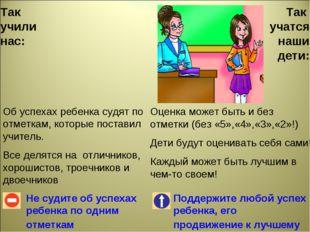 Так учили нас: Не судите об успехах ребенка по одним отметкам Поддержите любо