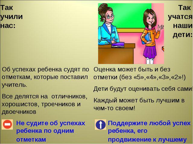 Так учили нас: Не судите об успехах ребенка по одним отметкам Поддержите любо...