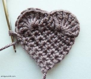 Вязаное Сердце Крючком Схема