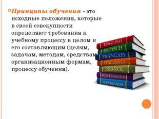 Общедидактические принципы обучения ИЯ Принцип наглядностивыражает необходим