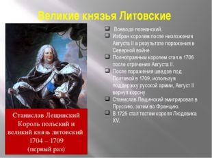 Великие князья Литовские Воевода познанский. Избран королем после низложения