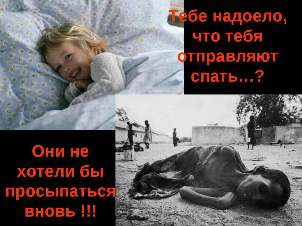 Тебе надоело, что тебя отправляют спать…? Они не хотели бы просыпаться вновь...