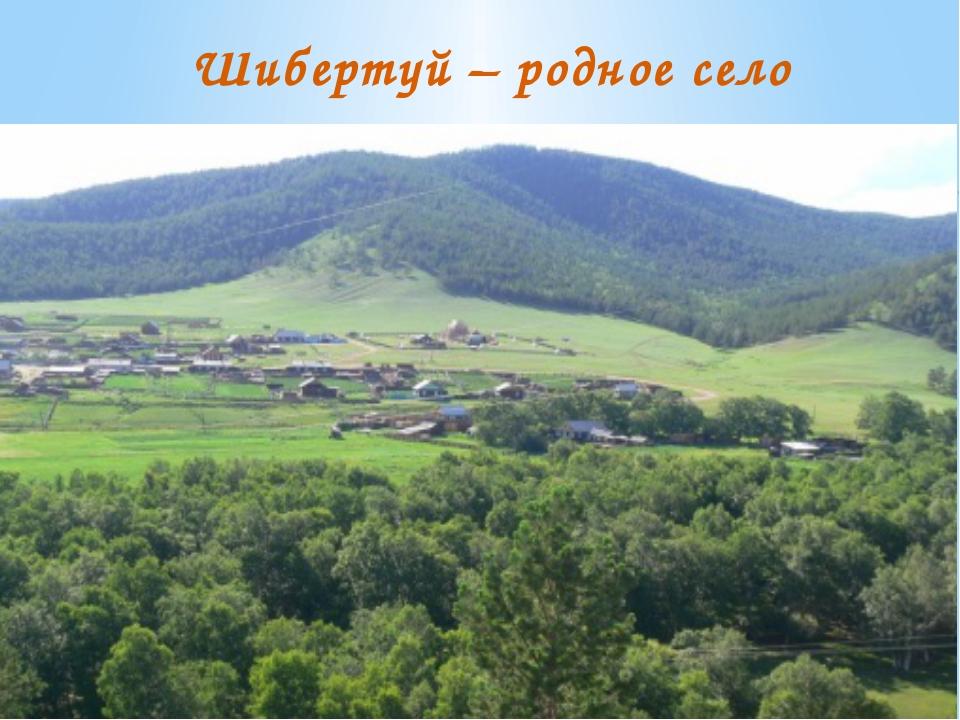 Шибертуй – родное село
