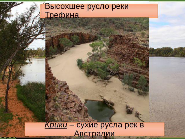 Реки Австралии р. Муррей Лиман р. Муррей р. Дарлинг Лиман - мелководный залив...