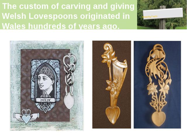 The custom of carving and giving Welsh Lovespoons originated in Wales hundred...