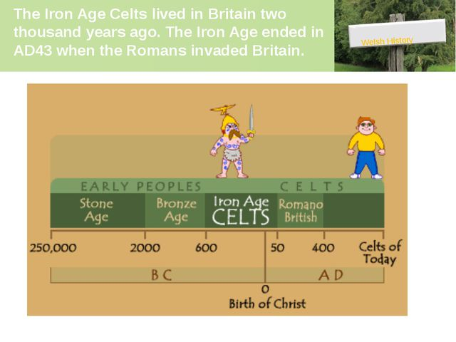 The Iron Age Celts lived in Britain two thousand years ago. The Iron Age ende...