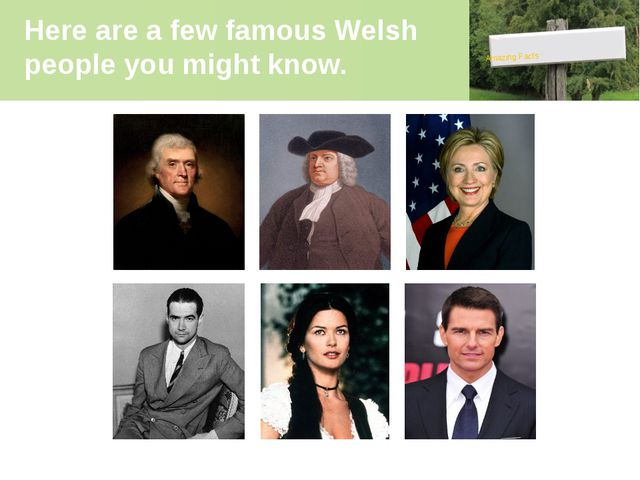 Here are a few famous Welsh people you might know. Amazing Facts Среди извест...