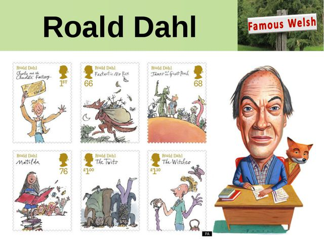 Roald Dahl Roald Dahl's work is being celebrated in a set of special stamps....