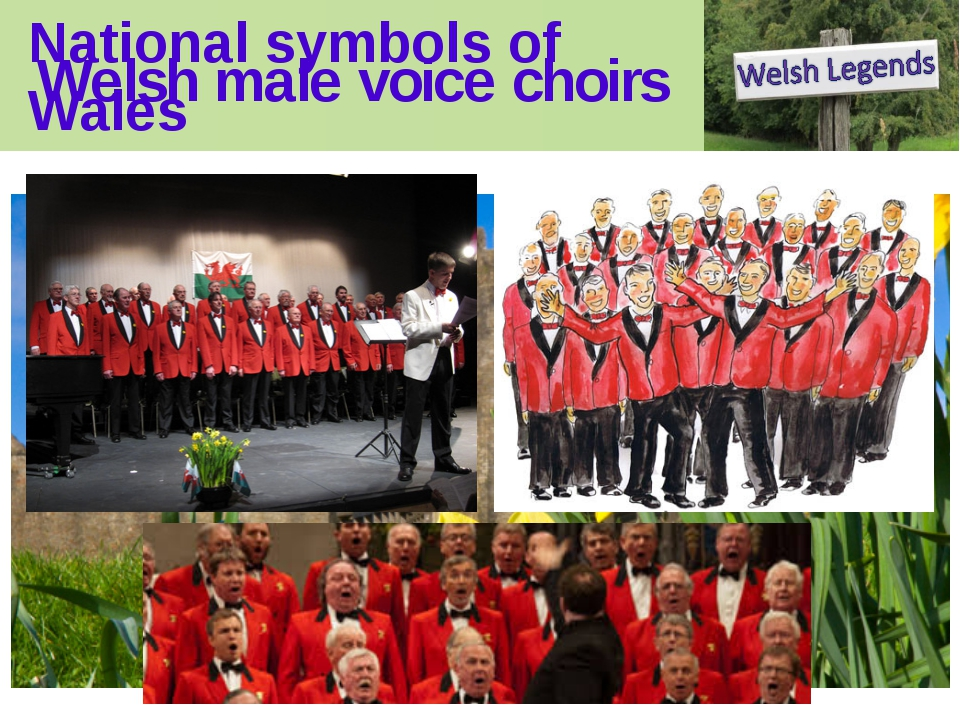 National symbols of Wales Welsh male voice choirs National symbols of Wales T...