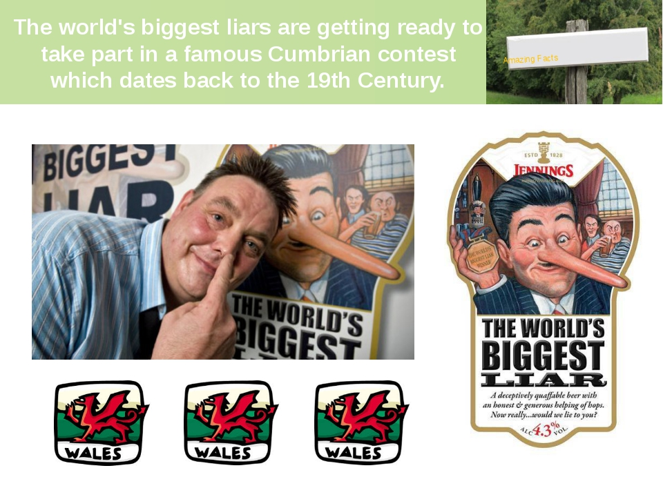 The world's biggest liars are getting ready to take part in a famous Cumbrian...