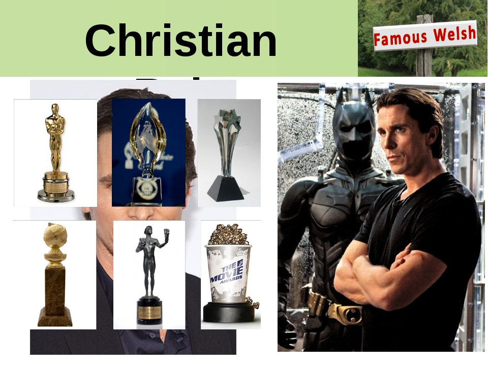 Christian Bale Oscar Academy Award, People's Choice Award, Critics Choice Mov...