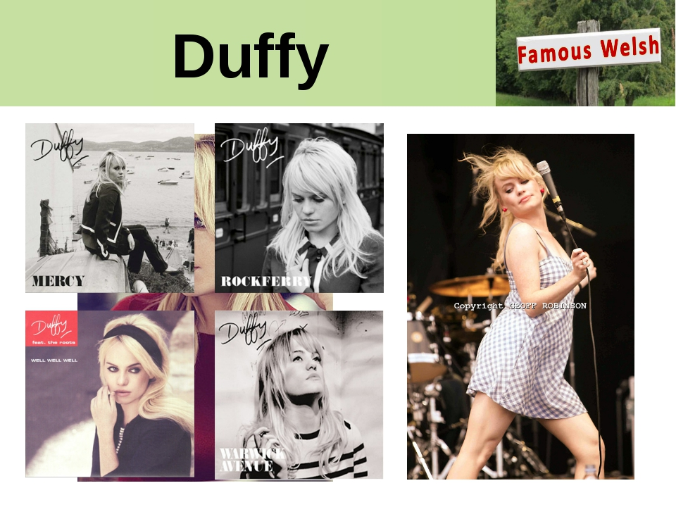 Duffy Duffy. Singer, songwriter and rising soul star enchanted the world with...