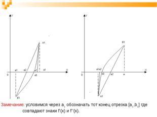 Замечание: условимся через a1 обозначать тот конец отрезка [a1,b1] где совпад