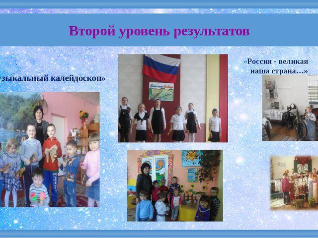 Второй уровень результатов «Музыкальный калейдоскоп» «Россия - великая наша...
