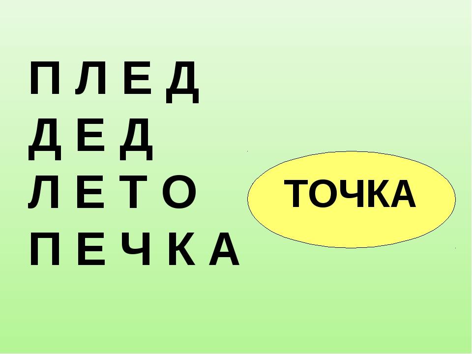 П Л Е Д Д Е Д Л Е Т О = П Е Ч К А ТОЧКА