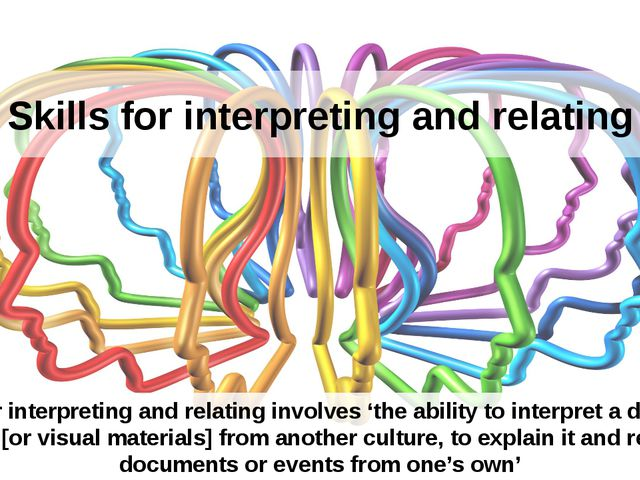 Skills for interpreting and relating Skills for interpreting and relating inv...